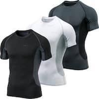 Tesla MUB73 Cool Dry Mesh Side Short Sleeve Compression T-Shirt