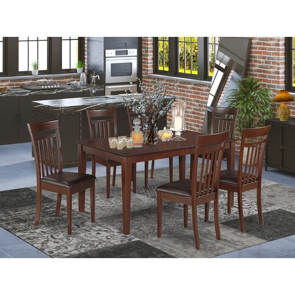 7-piece Dining Room Set - Table and 6 Chairs (Chairs Option). Opens flyout.