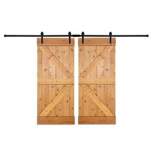 Link to Paneled Wood Painted Double Barn Door DK Series (Set of 2) Similar Items in Doors & Windows