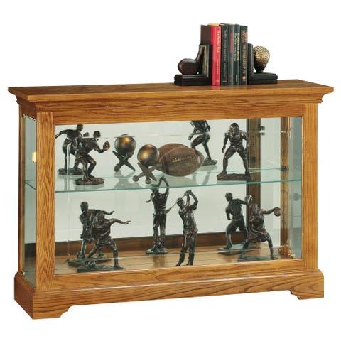 Howard Miller Burrows Light Brown Solid Wood 2-shelf Curio Cabinet