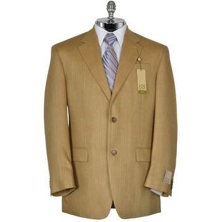 Joseph Abboud Joe X7 Tan Silk Blend Sportcoat 41 Regular 41R Windowpane Blazer