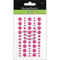 Dark Pink - Eyelet Outlet Adhesive-Back Enamel Dot 60/Pkg