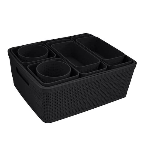 Simplify 10 Pack Organizing Set in Black