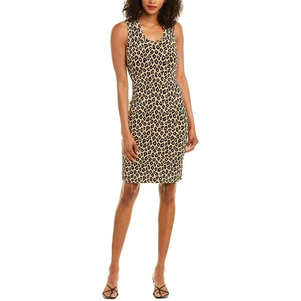 Theory Leopard Sheath Dress. Opens flyout.