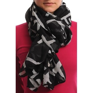 Women's Lightweight Cross Printed Soft Large Wrap Scarves