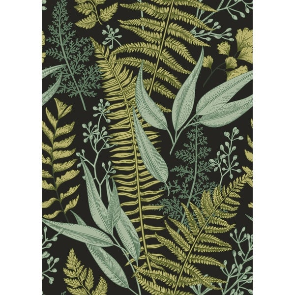 "Ferns Botanical Wallpaper Peel and Stick Wallpaper - 25""W x 200""H. Opens flyout."