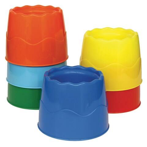Creativity street stackable 6 set water pots asst 5122