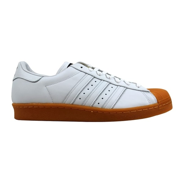 newest collection fc5dd b2d65 Adidas Superstar 80s Deluxe White/White-Gold Metallic S75830 Men's