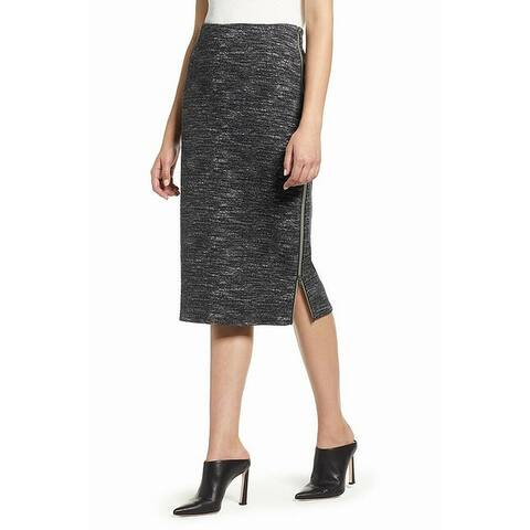 Halogen Gray White Womens Size PXXS Petite Space Dye Pencil Skirt