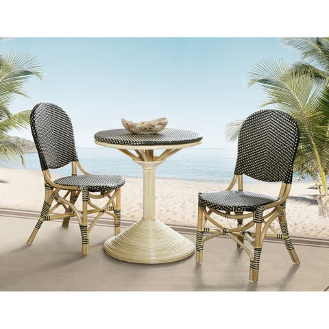 French Bistro Table - Black/Beige