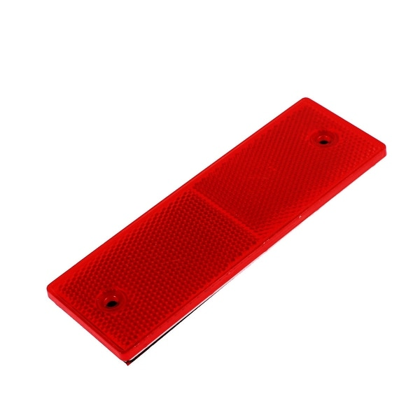 Elegant Unique Bargains Car Truck Plastic Safety Reflective Warning Self Adhesive  Plate Stickers Red