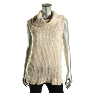 DKNY Jeans Womens Ribbed Knit Striped Turtleneck Sweater - L
