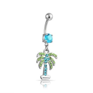 Brand New 925 Sterling Silver /& Surgical Steel Flower Belly Bar set with an Opal Triplet