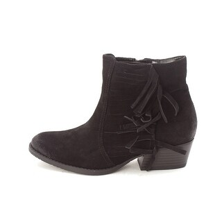 Kenneth Cole Reaction Womens Raw Leather Almond Toe Ankle Cowboy Boots