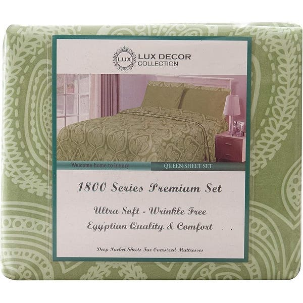 Premier Collection 800 Series Egyptian Comfort 6 PC Sheet Set in 10 Colors