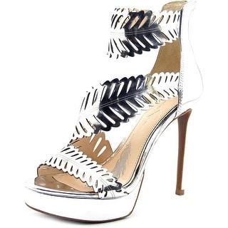 Jessica Simpson Azure Women Open Toe Synthetic Silver Platform Heel