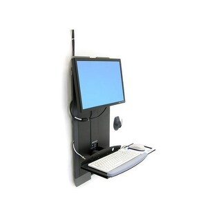 Ergotron - Ergotron Sv Vertical Lift,High Traffic Area (Black).For Space-Constrained,High T