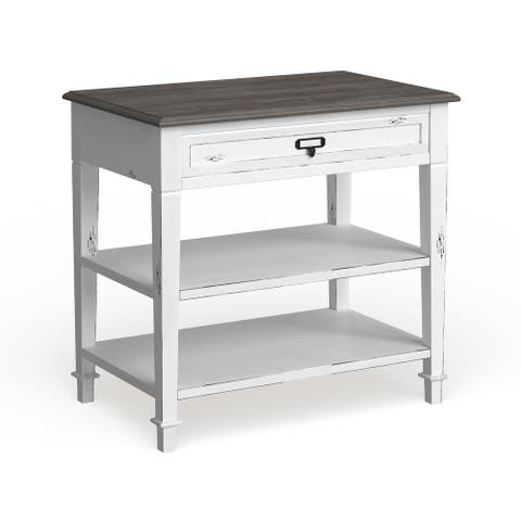 The Gray Barn Mead Grove French Accent White Console Table