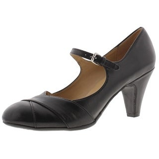 Naturalizer Womens LAYTON Mary Jane Heels Faux Leather Buckle