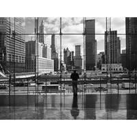 ''Looking at Ground Zero'' by Henri Silberman New York Art Print (23.5 x 31.5 in.)