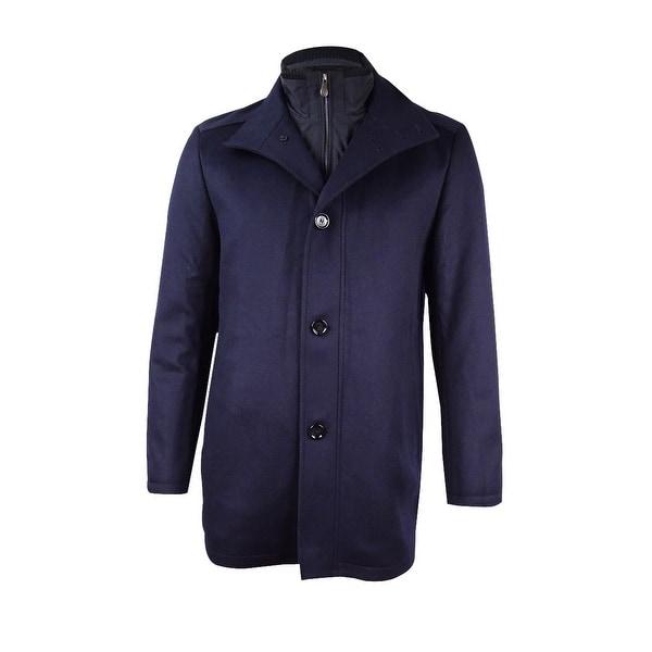22026ea270a Hugo Boss Men's Cashmere Blend C-Coxtan Coat (40R, Navy) - Navy - 40r