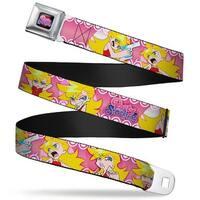 Panty & Stocking With Garter belt Logo Full Color Black Pinks Purples Panty Seatbelt Belt