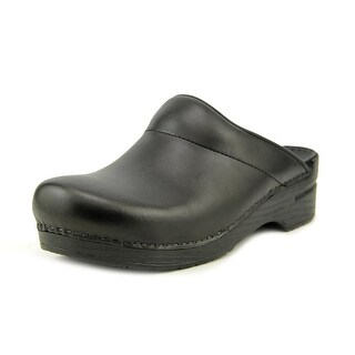 Dansko Karl Box Men Round Toe Leather Black Clogs
