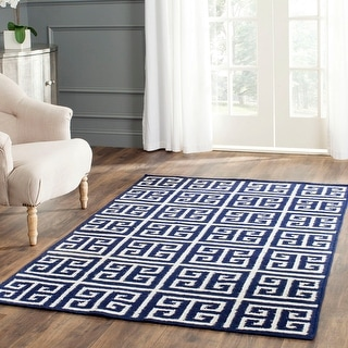 Link to Safavieh Handmade Flatweave Dhurries Renae Modern Wool Rug Similar Items in Transitional Rugs