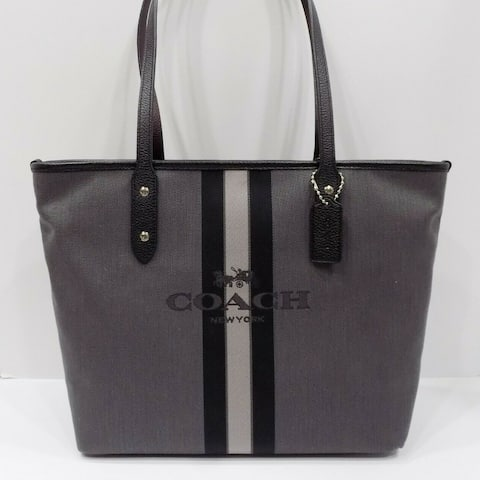 Coach 69645 Horse And Carriage Jacquard Tote Black
