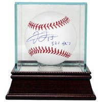 Signed Frank Thomas signed Official Major League Baseball 521 HRs w Glass Case Chicago White SoxTor