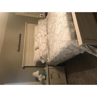 Laura Ashley Venetia Grey Reversible Cotton 3-piece Quilt Set