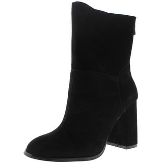Chinese Laundry Womens Classic Mid-Calf Boots Suede Black 8 Medium (B,M) - 8 medium (b,m)