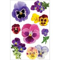 """Paper House 3D Stickers 4.5""""x8.5""""-Pansies"""