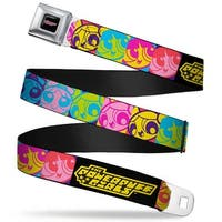 The Powerpuff Girls Black White Pink Full Color The Powerpuff Girls Face Seatbelt Belt