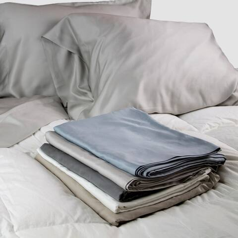 100% Sateen Bamboo Sheets Set--Pillow cases, Top Sheet, and Fitted Sheet