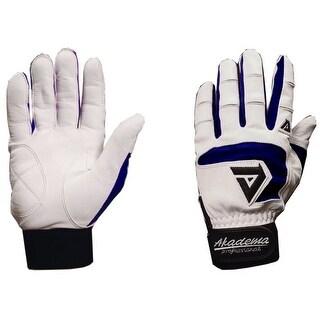 Akadema White/Navy Professional Batting Gloves Medium