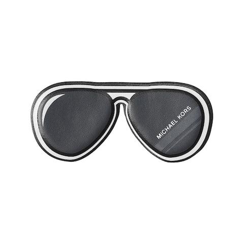 Michael Kors Womens Just Add Aviators Leather Stickers Novelty Stick-On - Black