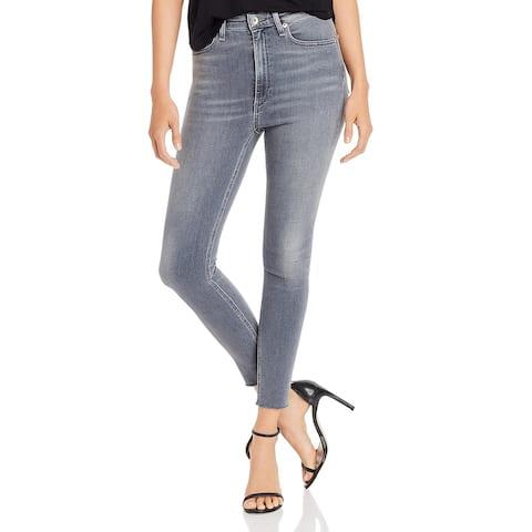 Rag & Bone Womens Jane Skinny Jeans Faded High Rise - Gray - 24