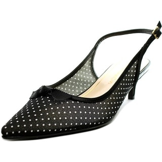 Caparros Billie Women  Pointed Toe Canvas Black Slingback Heel