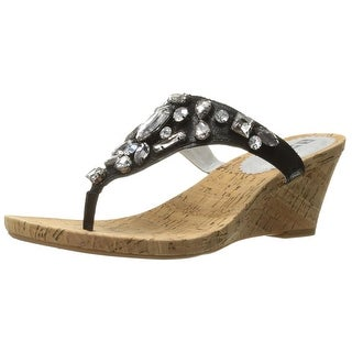 White Mountain Womens Ablaze Leather Open Toe Casual Platform Sandals