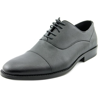 Unlisted Kenneth Cole Half Time Men  Cap Toe Synthetic Black Oxford