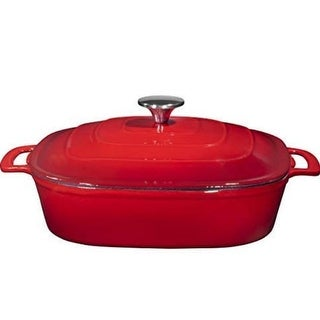 Link to 3.8 Enameled Cast Iron Casserole Square Braiser Similar Items in Bakeware