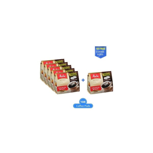 Melitta 75448 Soft Coffee PodsMedium Roast (6-Pack) Soft Coffee Pods Medium Roast 18 Counts