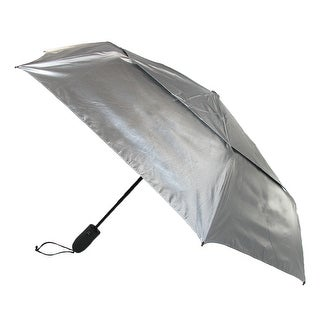 ShedRain Shedrays Auto Open & Close Vented UPF 50+ Compact Umbrella - silver with black underside - One Size