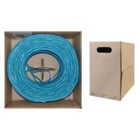 Offex Bulk Shielded Cat6 Blue Ethernet Cable, Solid, Spool, 1000 foot