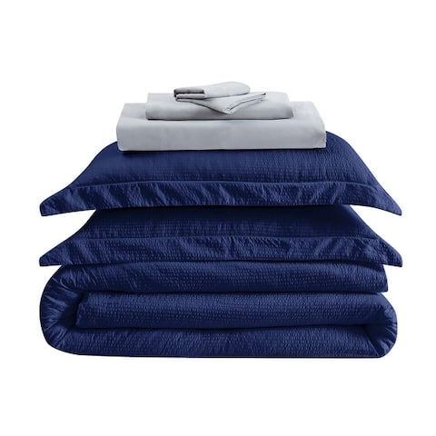 Truly Calm Antimicrobial Seersucker 7 Piece Bed in a Bag