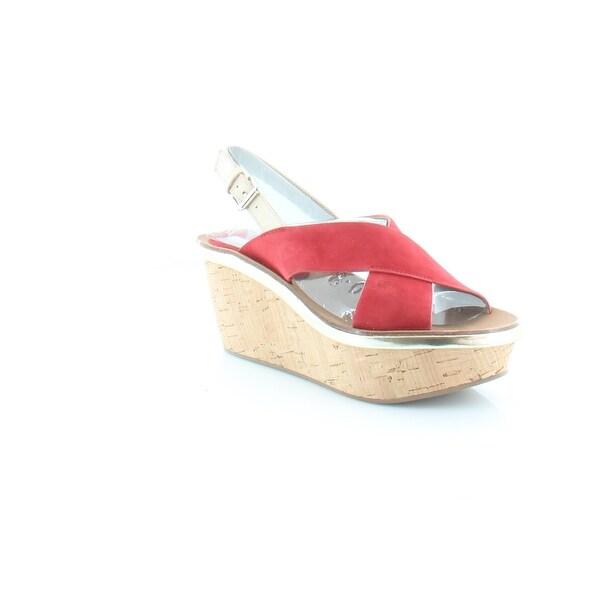 Diane von Furstenberg Maven Women's Sandals & Flip Flops Vibrant Red - 6
