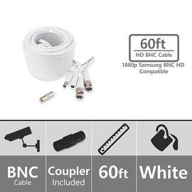 Soltech 1080p Compatible STS-FHDC60 60ft BNC Video/Power Cable
