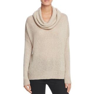 Joie Womens Mildred B Pullover Sweater Cowl Neck Sequined