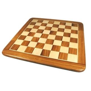 21 Inch Sheesham & Maple Thick Veneer Chess Board - brown